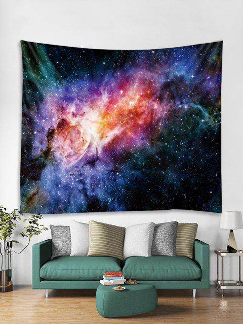 Starry Sky Print Tapestry Art Decoration - multicolor W79 X L71 INCH