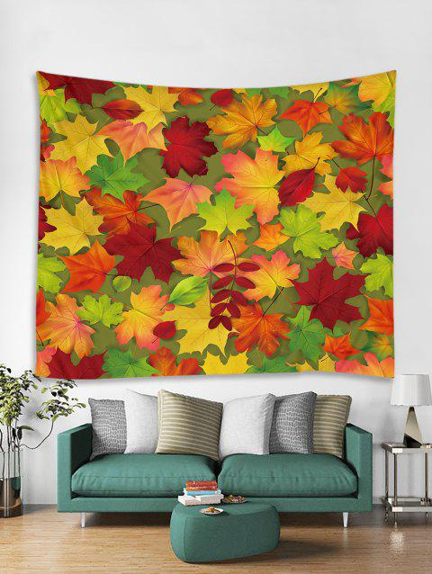 Maple Leaf Printed Tapestry Art Decoration - multicolor W91 X L71 INCH