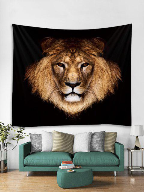 Lion Print Tapestry Art Decoration - multicolor W79 X L71 INCH