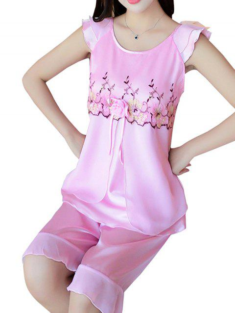 GH - YX824 Women's Fashion Comfortable Pajama Set - PINK 2XL