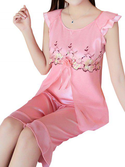 GH - YX824 Women's Fashion Comfortable Pajama Set - WATERMELON PINK 2XL