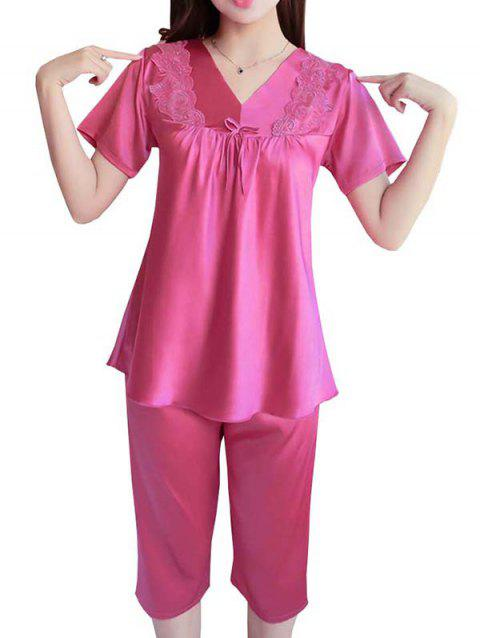GH-YX705 Ensemble de pyjama confortable - Rouge Vineux 2XL