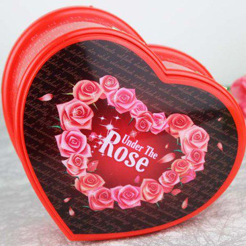 High Quality Heart-shaped Rotating Ballet Music Box - RED