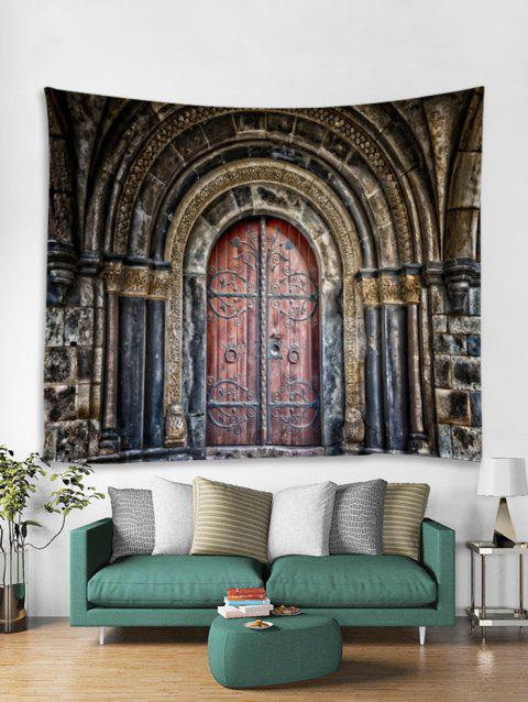Palace Door Print Tapestry Wall Hanging Decoration - multicolor W91 X L71 INCH
