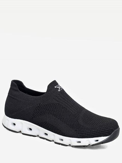 Slip On Sport Sneakers - BLACK EU 45
