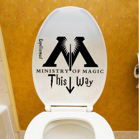 Creative Personality Toilet Sticker - BLACK