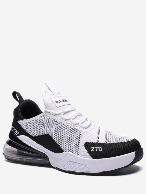 Color Block Knitted Running Sneakers - WHITE EU 43