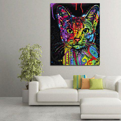 Cat Style Modern Living Room Animal Painting - multicolor A