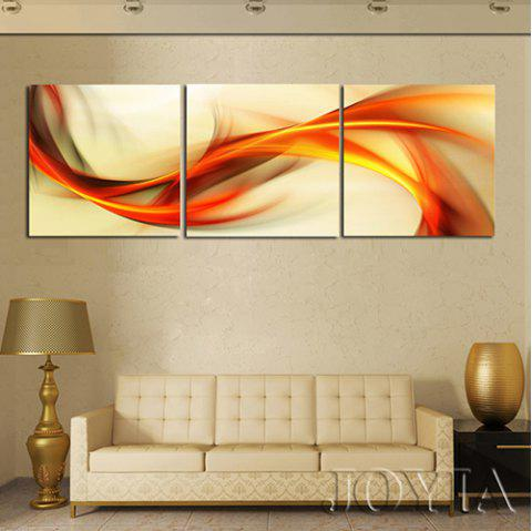 Triptych Waterproof Art Abstract Painting 3pcs - ORANGE 3PCS X 24 X 24 INCH( NO FRAME )