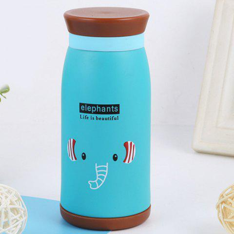 Big Belly Cute Thermos Cup for Children - MEDIUM TURQUOISE
