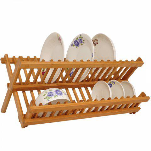 SN0130 Foldable Bamboo Kitchen Storage Rack - multicolor