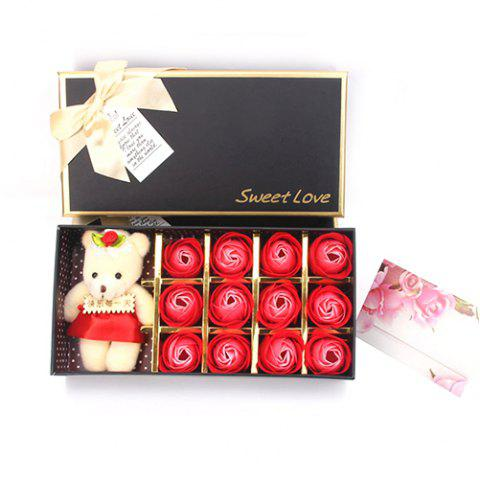 12 Roses Soap Flower Gift Box Valentine's Day Gift - RED