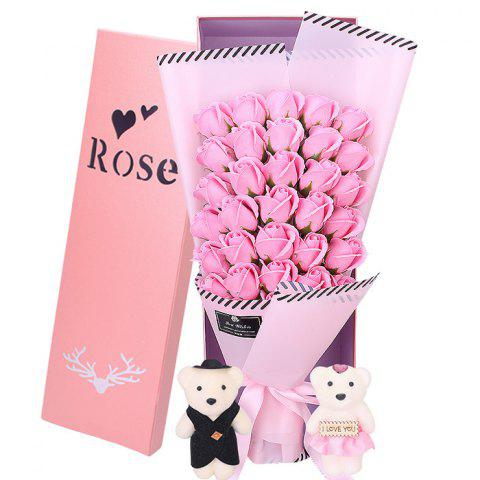 33 Rose Soap Bouquet Gift Box for Valentine's Day - PINK