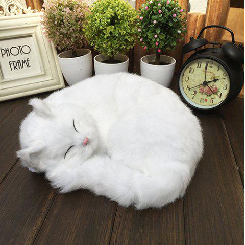 Home Accessories Ornament Static Animal Models Cat Craft - WHITE