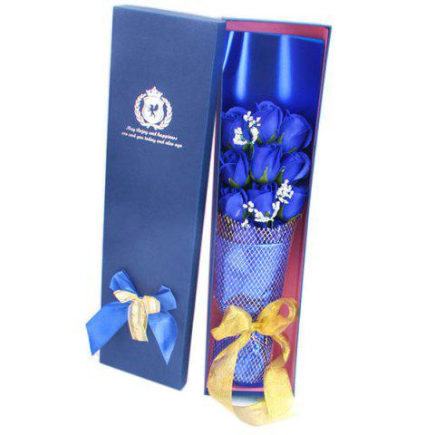 Valentine's Day 11 Rose Soap Bouquet Gift Box - BLUE