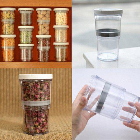 Preserving Vacuum Telescopic Tank Storage Bottle for Home - NATURAL WHITE