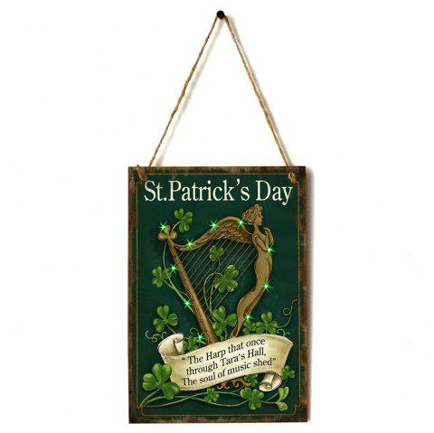 JM01102 Wooden St. Patrick's Day Listing - SEAWEED GREEN