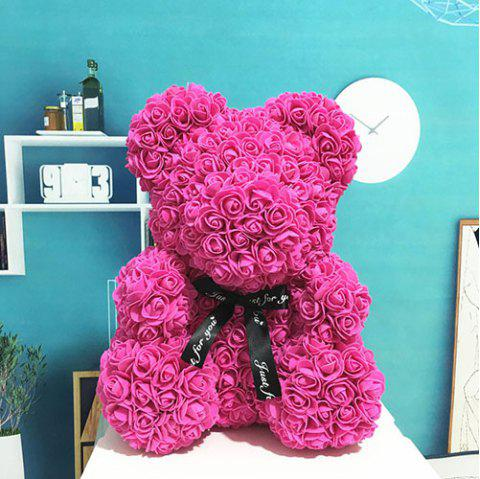 Party Gift Valentine Rose Bear 40cm - ROSE RED