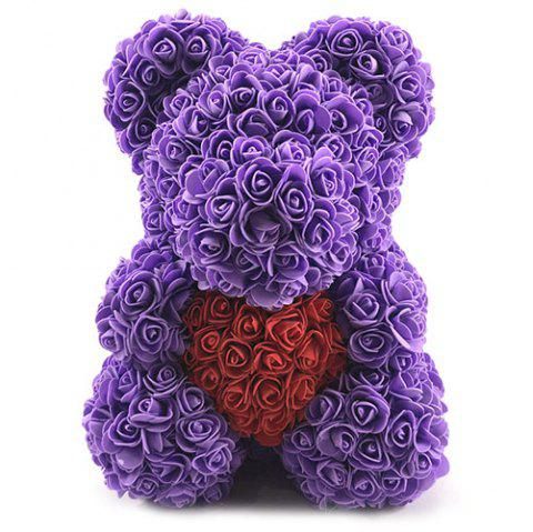 Valentines Birthday Gift Rose Color Matching Flower Bear 40cm - multicolor #15