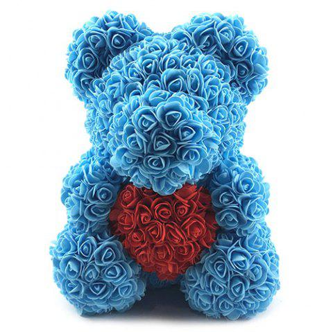 Valentines Birthday Gift Rose Color Matching Flower Bear 40cm - multicolor #14