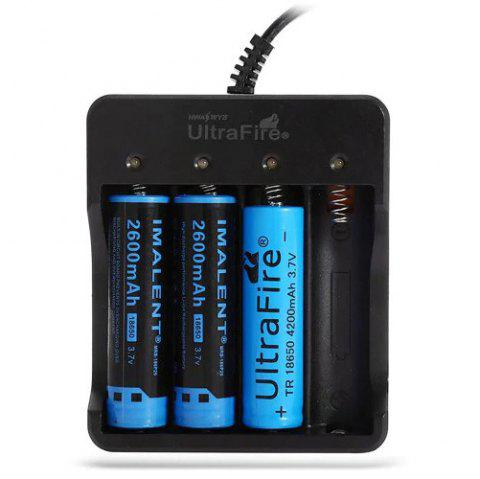 UltraFire HD - 077B 4 Slots 18650 Lithium-ion Battery Charger - BLACK