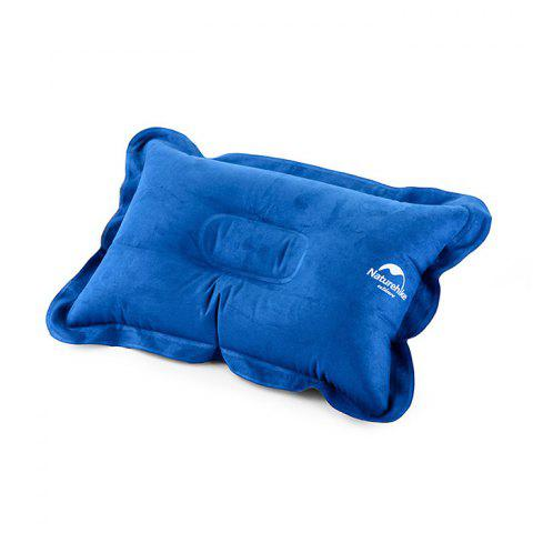NatureHike Air Inflation Suede Fabric Pillow for Outdoor Camping Travelling Home Use - BLUE