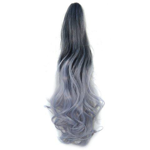 Fashion Grip Synthetic Pony Tail Wig - PLATINUM