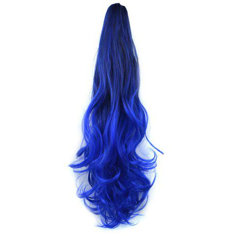 Fashion Grip Synthetic Pony Tail Wig - DEEP BLUE