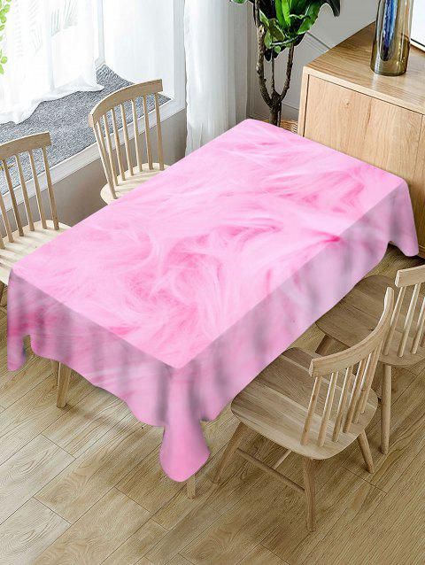 Fur Print Fabric Waterproof Tablecloth - PIG PINK W54 X L54 INCH