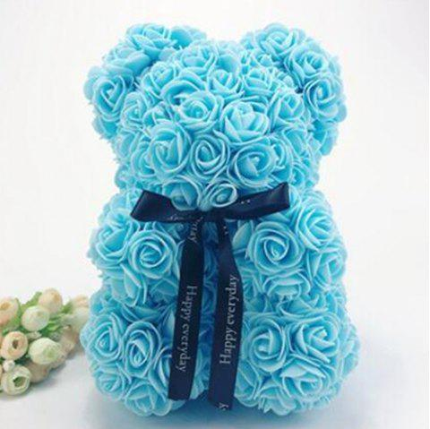 25cm Christmas Birthday Gift Rose Bear - AZURE