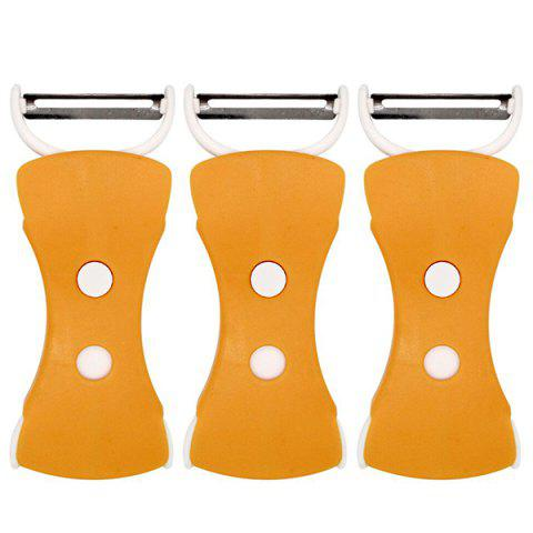 Kitchen Fruit and Vegetable Grater Fruit Peeler 3PCS - DARK ORANGE