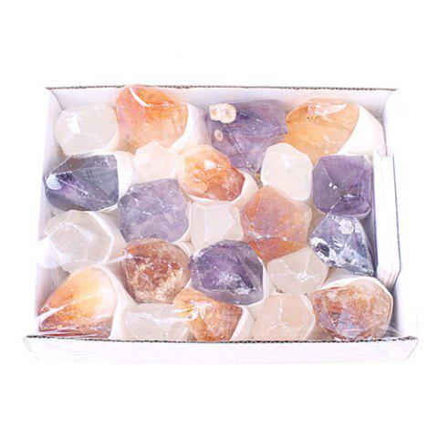 Natural Crystal Column Original Stone Gift Ornaments - multicolor A