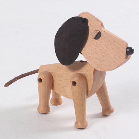 Solid Wood Puppy Crafts Children's Gifts - BURLYWOOD