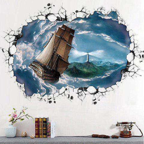 3D Stereo PVC Environmental Wall Sticker - multicolor A