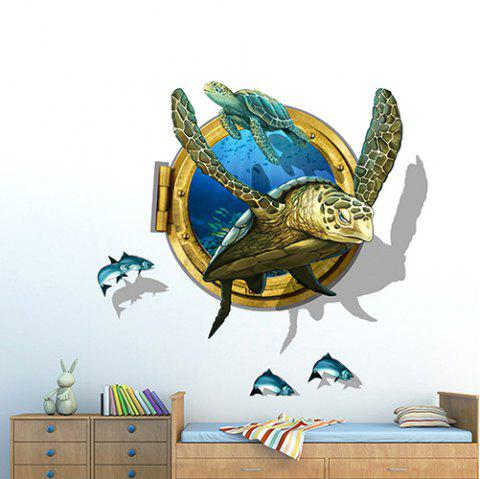PVC Environmental Protection Turtle 3D Wall Sticker - multicolor A