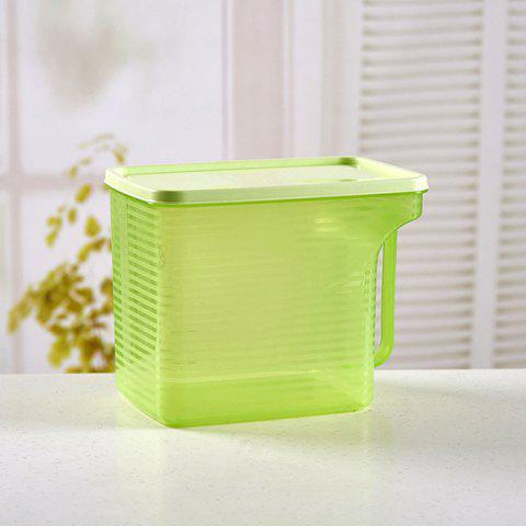 Plastic Storage Box Stackable Refrigerator Storage Box With Handle Transparent Food Sealed Box - SALAD GREEN