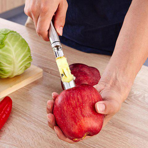 304 Stainless Steel Fruit Core Remover Fruit Corer Pear Coring - SILVER