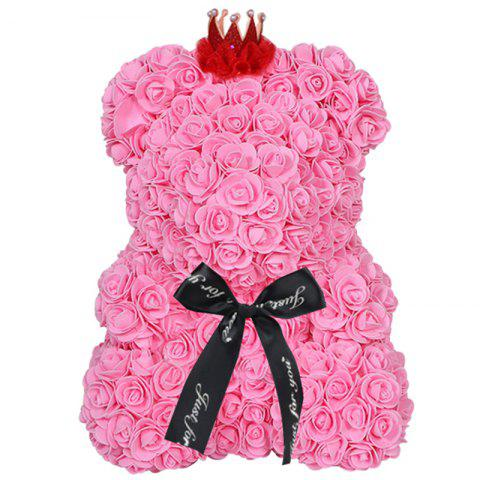 Rose Bear Home Decoration Valentine Day Gift - PINK