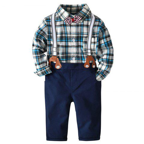 Baby Gentleman's Bow Tie Romper - multicolor A 24MONTHS
