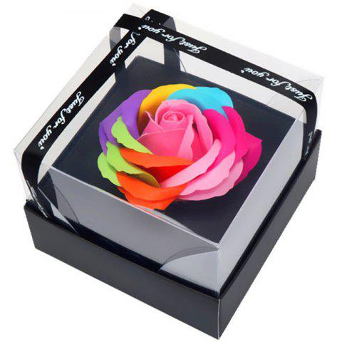 Lovely Rose Soap Flower Valentine's Day Gift Box - multicolor A