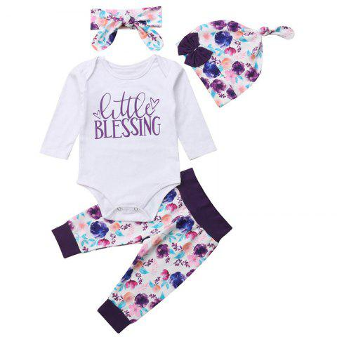 Baby Girl Little Blessing Print Romper - multicolor A 0-6MONTHS