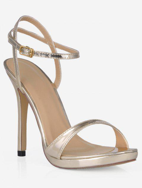 Single Strap Super High Heel Sandals - CHAMPAGNE GOLD EU 39