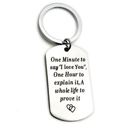 Creative Valentine's Day Letters Key Ring - SILVER