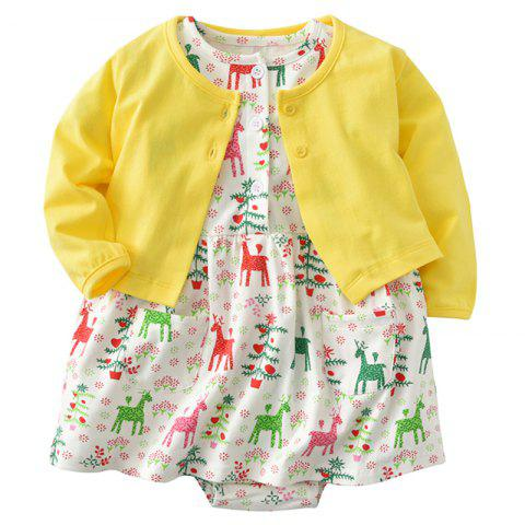 19F006 Girls Princess Dress Jacket Two-piece - multicolor 6 - 9 MONTHS