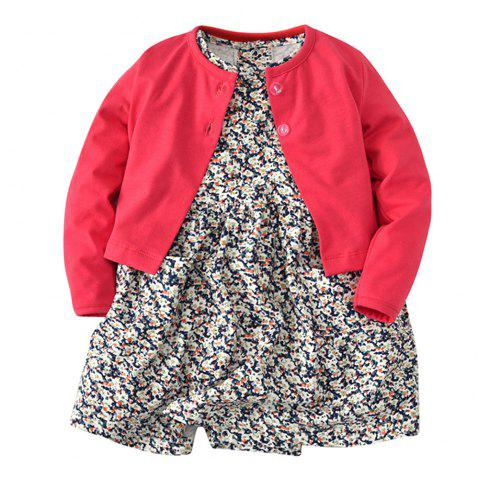 19F003 Baby Climbing Long Sleeve Jacket Two-Piece - multicolor 6 - 9 MONTHS