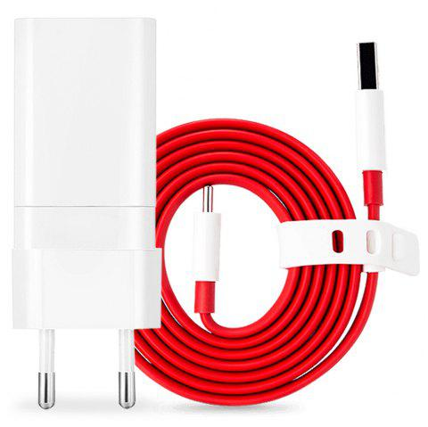 Original OnePlus Fast Charging Adapter Type-C Data Transmission Cable 100cm - WHITE
