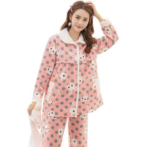 Fashionable Breathable Maternity Home Pajamas - PINK XL