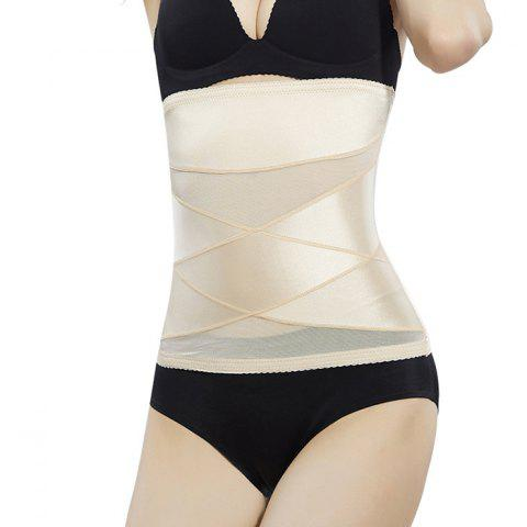 Breathable Comfortable Postpartum Slimming Abdomen Belt - BLANCHED ALMOND 2XL