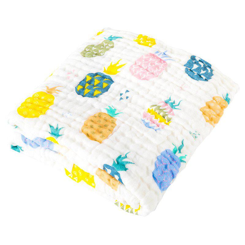 FLLYJ066 Baby Cotton Gauze Soft Bath Towel - multicolor B PINEAPPLE