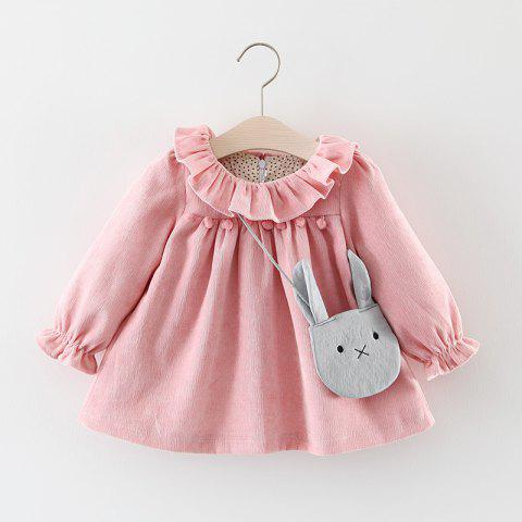 Girls Long Sleeve Princess Dress - PINK 0-12M